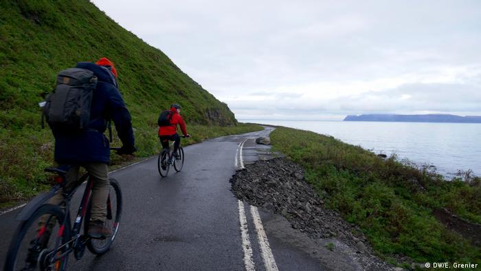 Bike tour near Isafjordur, Westfjords, Iceland
