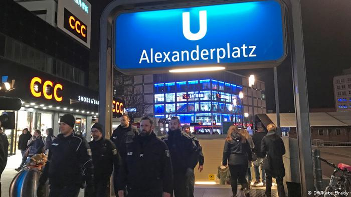 Police officers onAlexanderplatz
