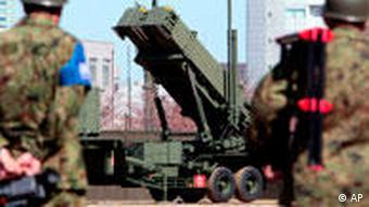 Nordkorea und Japan land-to-air missiles