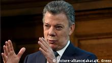 Großbritannien Präsident Juan Manuel Santos in London