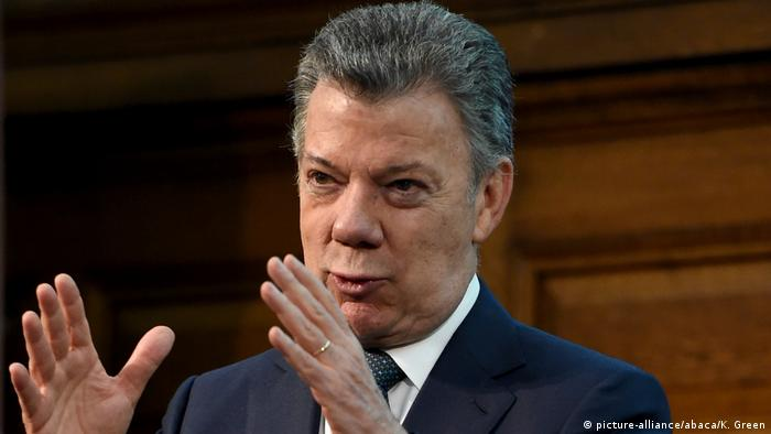 Großbritannien Präsident Juan Manuel Santos in London (picture-alliance/abaca/K. Green)