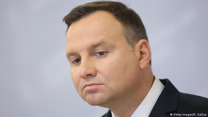 Polen Präsident Andrzej Duda in Stettin (Getty Images/S. Gallup)