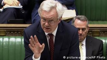 Großbritannien David Davis im House of Commons in London (picture-alliance/AP Photo)