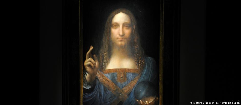 "A pintura ""Salvator Mundi"", datada de cerca de 1500, retrata Jesus Cristo em trajes renascentistas"
