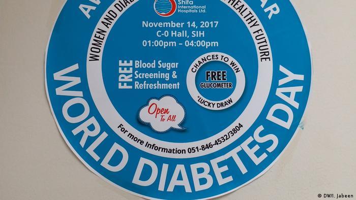 Pakistan Islamabad Welt-Diabetes-Tag (DW/I. Jabeen)