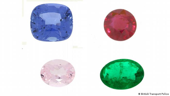 Four types of jewels stolen from a train between London and Birmingham (British Transport Police)