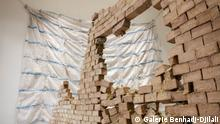 Emmanuel Tussore used nearly 5,000 pieces of soap for his installation (Galerie Benhadj-Djilali)