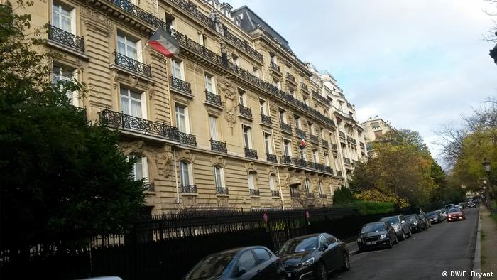 View of the Paris mansion owned by the president's son