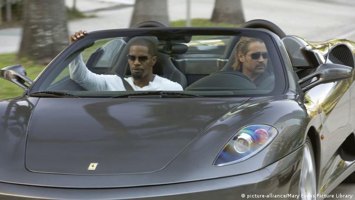 Крокетт і Таббс у Ferrari 430 Spider в фільмі Поліція Маямі