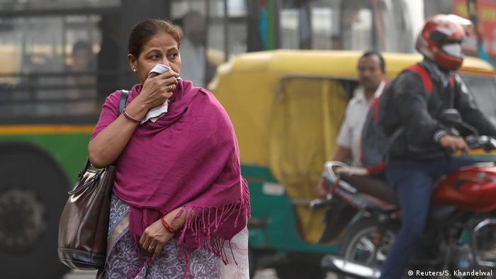 Indien Neu Delhi Smog und Luftverschmutzung