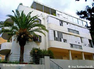 Das Dunkelblum-Haus in der Ya'el Street, Tel Aviv, Foto: Rottscheidt/ DW