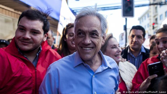 A portrait of presidential candidate Sebastian Pinera