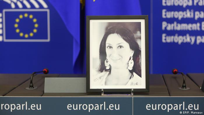 Frankreich Straßburg EU-Parlament Pressesaal nach Enthüllungsjournalistin umbenannt