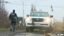November 2017 +++ OSCE-Beobachter aus Deutschland in der Ukraine. Quelle: Stillbild aus DW-Video.