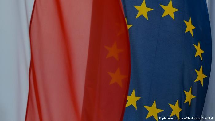 EU, Polish flags