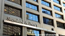 epa02965643 (FILE) A file photograph shows a view of the offices of Standard and Poor's in New York, New York, USA, on 28 April 2010. Media reports state on 14 October 2011 that Standard and Poor's has cut Spain's long-term credit rating by one notch, from AA to AA minus, because of the weak finances of its banking system, threats to its economic growth and high unemployment. The worldâ€_s leading ratings agency warned of further downgrades, saying the long-term outlook of the rating for the eurozoneâ€_s fourth-largest economy is negative. EPA/JUSTIN LANE *** Local Caption *** 00000402136566 |