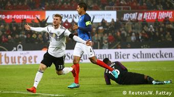 Fußball Köln Länderspiel D vs Frankreich Torjubel Timo Werner 1:1