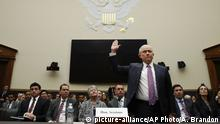 Attorney General Jeff Sessions is sworn in before the House Judiciary Committee on Capitol Hill, Tuesday, Nov. 14, 2017 in Washington. Sessions is expected to answer a range of questions from Russian meddling in the presidential campaign and his interest in a special counsel to investigate the Clinton Foundation. (AP Photo/Alex Brandon) |