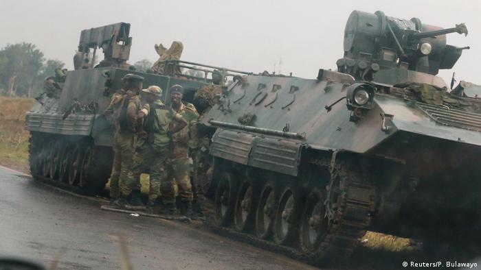 Zimbabwe Soldaten vor Harare