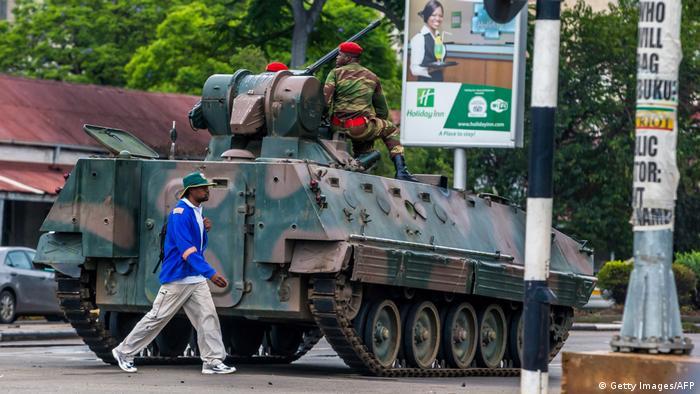 Simbabwe Krise Straßenszenen aus Harare