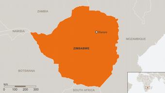 Karte Zimbabwe ENG