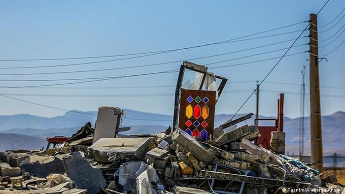 Zerstörung im Erdbebengebiet Iran (Tasnim/A.Vasigh Ansari)