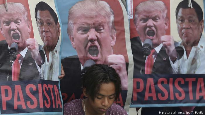 Philippinen ASEAN Gipfel Protest gegen Trump (picture-alliance/dpa/A. Favila)