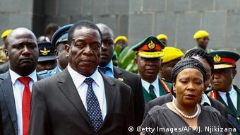 Emmerson Mnangagwa mit Ehefrau