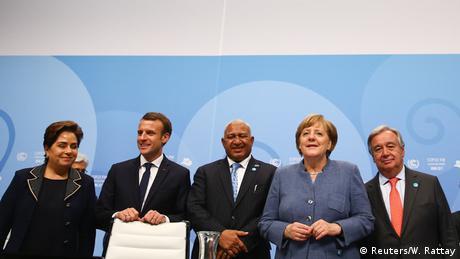 UN-Klimakonferenz 2017 in Bonn | Espinosa & Macron Bainimarama & Merkel & Guterres (Reuters/W. Rattay)