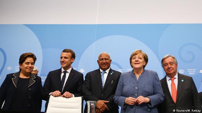 UN-Klimakonferenz 2017 in Bonn | Espinosa & Macron Bainimarama & Merkel & Guterres