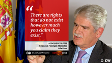 Alfonso Dastis on Conflict Zone (DW)