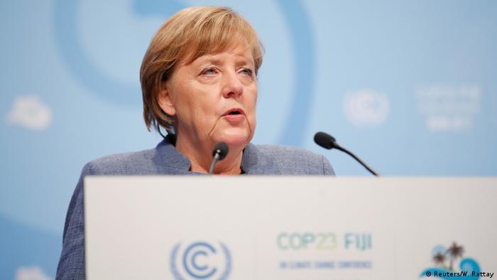 German Chancellor Angela Merkel speaks during the COP23 UN Climate Change Conference in Bonn on November 15