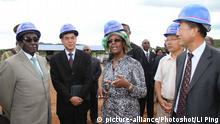 BG Mugabe, First Lady Grace chat with Chinese Ambassador to Zimbabwe Qi Shunkang, 2012