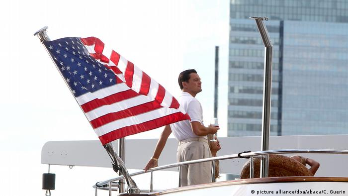 Leonardo DiCaprio on the set of The Wolf of Wall Street (picture alliance/dpa/abaca/C. Guerin)