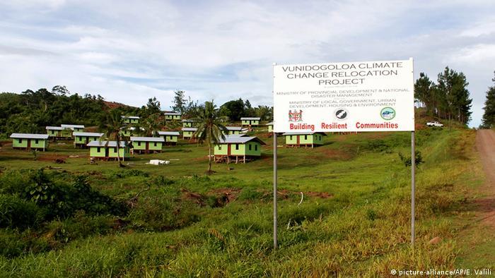 Fidschi Inseln Klimawandel Dorf Versetzung Vunidogoloa