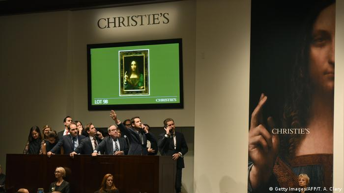 Christie's New York Auktion Leonardo da Vincis 'Salvator Mundi' (Getty Images/AFP/T. A. Clary)