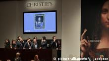 Christie's New York Auktion Leonardo da Vincis 'Salvator Mundi'