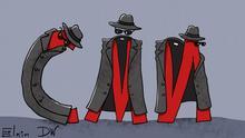 Russland Karikatur zu Gesetz über ausländische Agenten