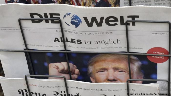 Capa do jornal Die Welt