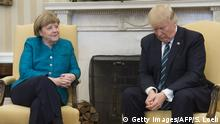 USA Washington - Donald Trump and Angela Merkel