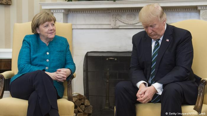 USA Washington - Donald Trump and Angela Merkel (Getty Images/AFP/S. Loeb)