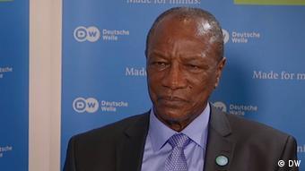 Le président Alpha Condé à la Deutsche Welle