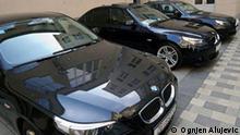 Zagreb,Croatia,2009.-In spite of cutting down the expenses, the ministeries have got the newest BMWs Najnoviji BMW za ministarstva.jpg Foto: Ognjen Alujevic