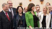 Deutschland Bonn - Andra Rupprechter, Marie-Christine Marghem, Claire Perry und Catherine McKenna bei Klimakonferenz