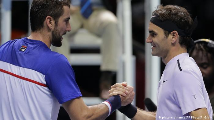 Tennis - ATP World Tour Finals Roger Federer vs Marin Cilic (picture alliance/AP Photo/A. Grant)