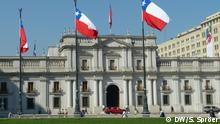 Chilenischer Präsidentenpalast La Moneda in Santiago de Chile