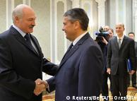 Зіґмар Ґабріель та Олександр Лукашенко в Мінську