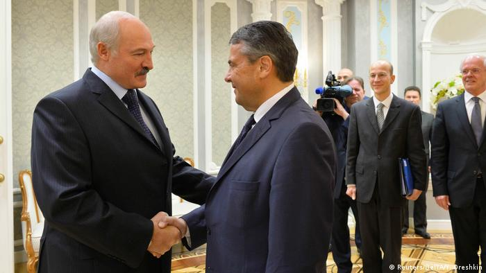 Weißrussland Sigmar Gabriel in Minsk
