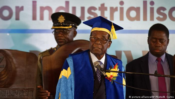 Robert Mugabe at graduation ceremony