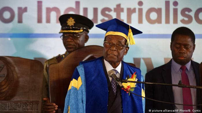 Robert Mugabe at graduation ceremony